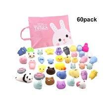 Landzo oyuncaklar, çeşitli hayvan Squishies ve saklama çantası, stres giderici oyuncak çocuklar sıkmak oyuncaklar yetişkin havalandırma çocuk hediye