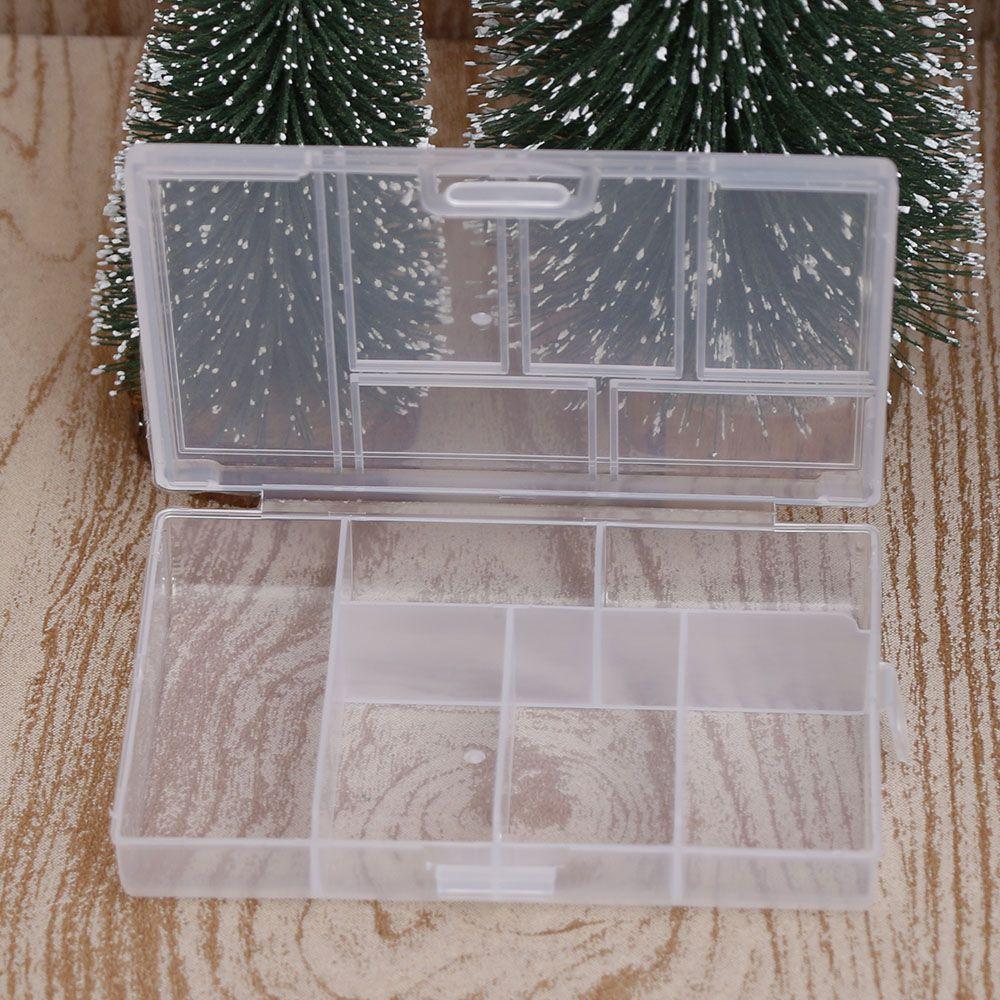 Дешевые мини-организатор ювелирные изделия ящик для хранения случае Пластик прозрачный монета Pill ювелирных изделий Коробка для хранения Д... ...