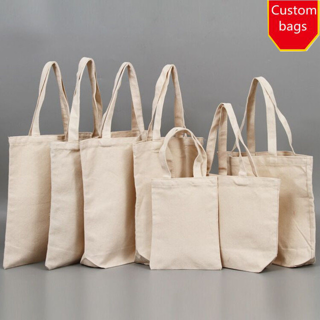 3a60d252b Wholesale 500pcs/lot Customized Logo 12oz Cheap tote Cotton canvas bag for  shopping free shipping