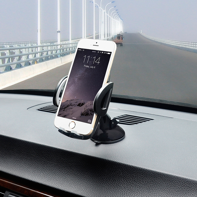 Xnyocn Car Mobile Phone Holder For Iphone 6s Plus 5s For Samsung Galaxy Note 4 S6 edge S5 Adjustable 360 Rotate Support 6.0 inch