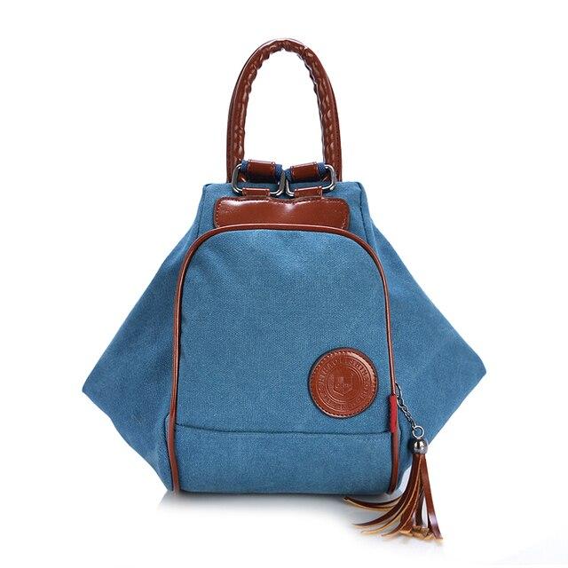 S Casual Preppy Style Canvas Hobos Handbags Rucksack For Age School Shoulder Bags Bag Daily