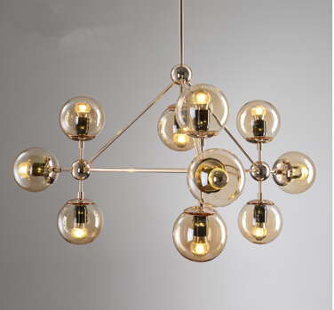 10/15/21 head golden color modo chandelier magic dna light glass globe chandelier dining light  ac90-260v  free shipping