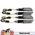 4X Motocicleta luces de Giro LED Blinker Indicador Universal Bicicleta Intermitente para suzuki salvaje ls 650 honda vtx 1300 c e r retro