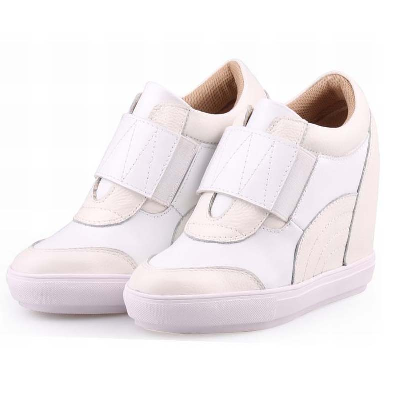 2018 spring fashion Invisible height increasing women casual shoes wedges on platform elevator ladies outdoor shoes female