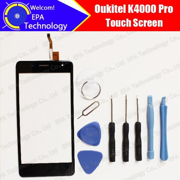 K4000 Oukitel Pro Tela de Toque Digitador Garantia 100% Original Digitador Da Tela de Toque Do Painel de Vidro Para Oukitel K4000 Pro
