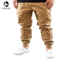 Mens Urban Clothing M 2XL Unisex Khakis Dress Jogger Pants Fashion High Quality Skinny Publish Black