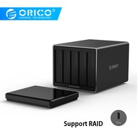 ORICO Tool Free Type C to SATA 5 Bay 5Gbps RAID Hard Drive Docking Station with 12V 6.5A Power Adapter Support UASP HDD Case
