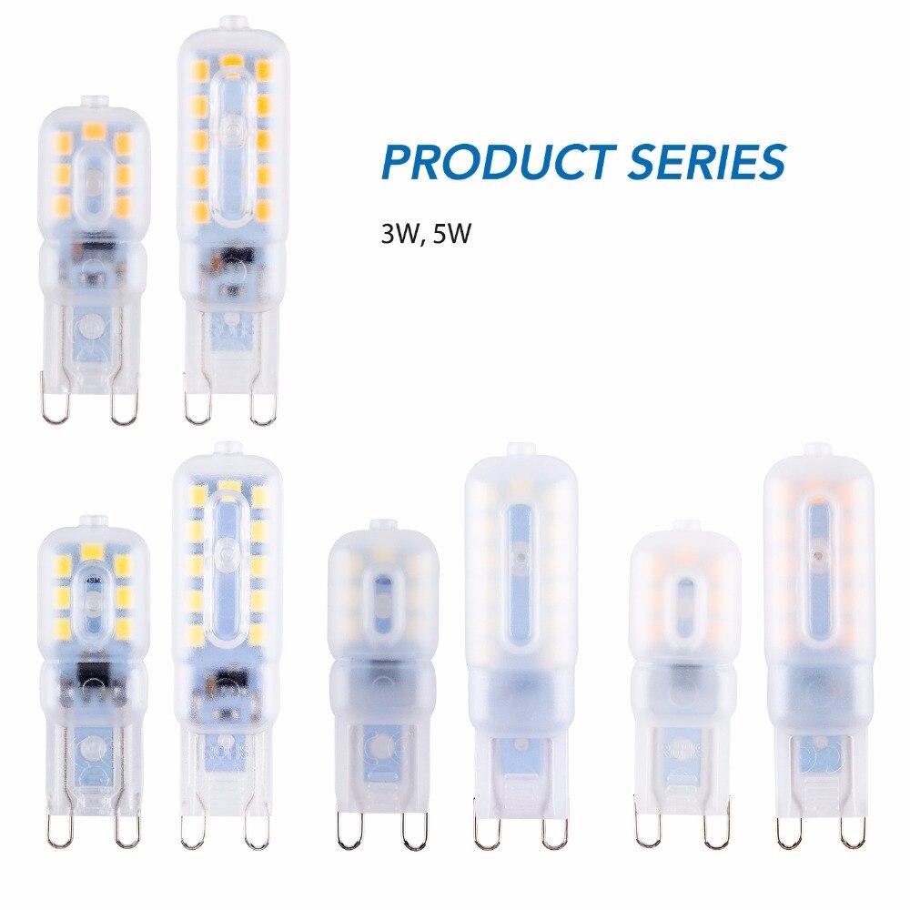 Ampoule G9 Led Bulb SMD 2835 Corn Light 220V Energy Saving Spotlight Bulb g9 Led Lamp 3W 5W Chandelier Lighting For Living Room in LED Bulbs Tubes from Lights Lighting