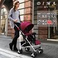 Carrinho de bebê sentado deitado ultra portátil à prova de choque de carro do bebê dobrável quatro rodas carrinho de mão guarda-chuva carro BB carro do bebê