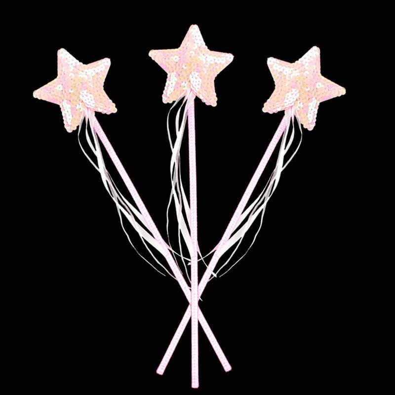 แฟชั่นฮาโลวีน Masquerade Props หัวใจมือ Angels Magic Sequins Love Fairy Wand Five - star Crown อุปกรณ์ตกแต่งบ้าน