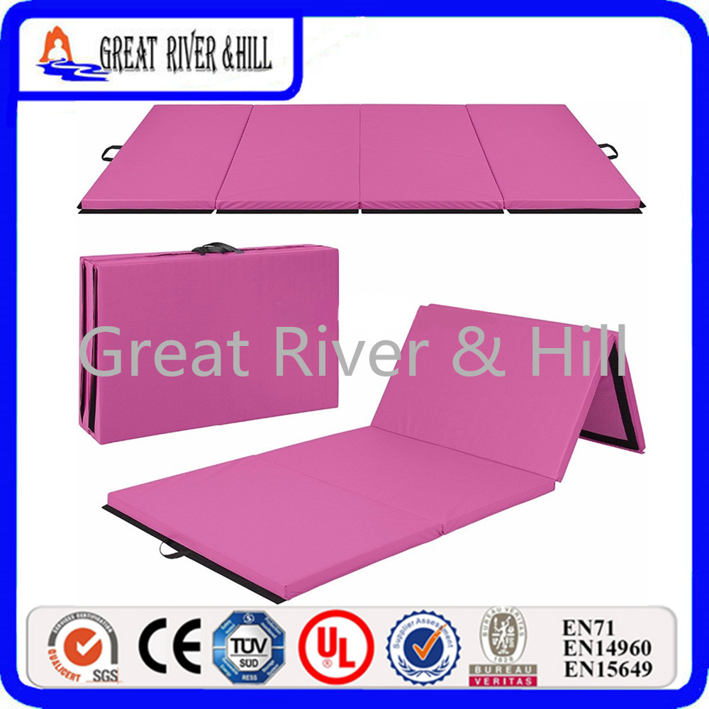 Great River Hill Folding Panel Gymnastics Mat Gym Exercise Mats Pad Casual Yoga Blankets For Outdoor size 2.4mx1.2mx3cm