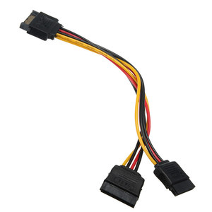 SATA II hard disk Power Male to 2 Female Splitter Y 1 to 2 extension Cable