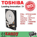 Toshiba DT01ACA200 2TB hdd 3.5 SATA 3 desktop disco duro internal sabit hard disk drive interno hd harddisk disque dur interne