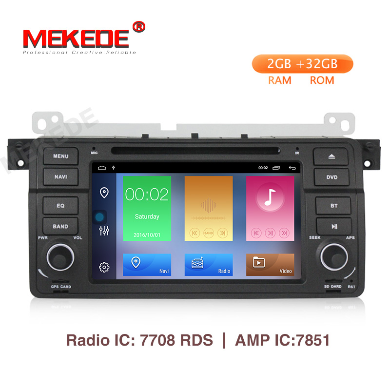 MEKEDE Car Multimedia player Android 9.1 GPS Autoradio 1 Din Stereo System For BMW/E46/M3/Rover/3 Series RAM 2G WIFI FM RadioMEKEDE Car Multimedia player Android 9.1 GPS Autoradio 1 Din Stereo System For BMW/E46/M3/Rover/3 Series RAM 2G WIFI FM Radio
