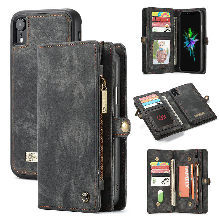 Multi function Wallet <font><b>Cases</b></font> Detachable Zipper Purse Leather Handbag Phone Soft Cover For <font><b>Samsung</b></font> S7 S8 S9 <font><b>Note8</b></font> 9 Plus Edge image
