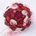 2016 hot Raw silk simulation bride holding flowers Korean ceremony wedding photo studio models props artificial flowers ball