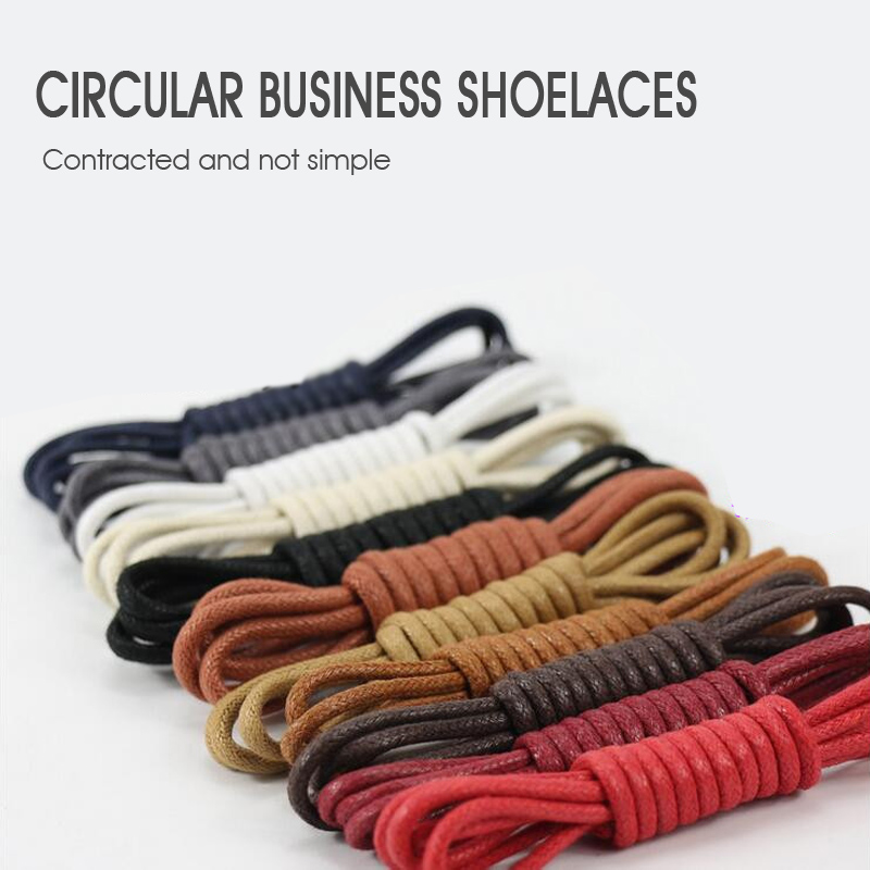 1 Pair 80/90/100/110/120cm Round Waxing Shoelaces for Leather Shoes Waterproof Shoe Laces Snow Martin Boots Sport Shoelace
