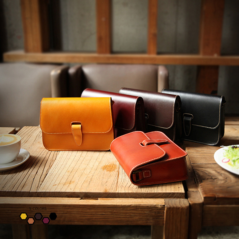 YIFANGZHE Women Genuine Leather Messenger Bags Classic Saddle Bag Crossbody Shoulder Style with Zipper Snap Closure