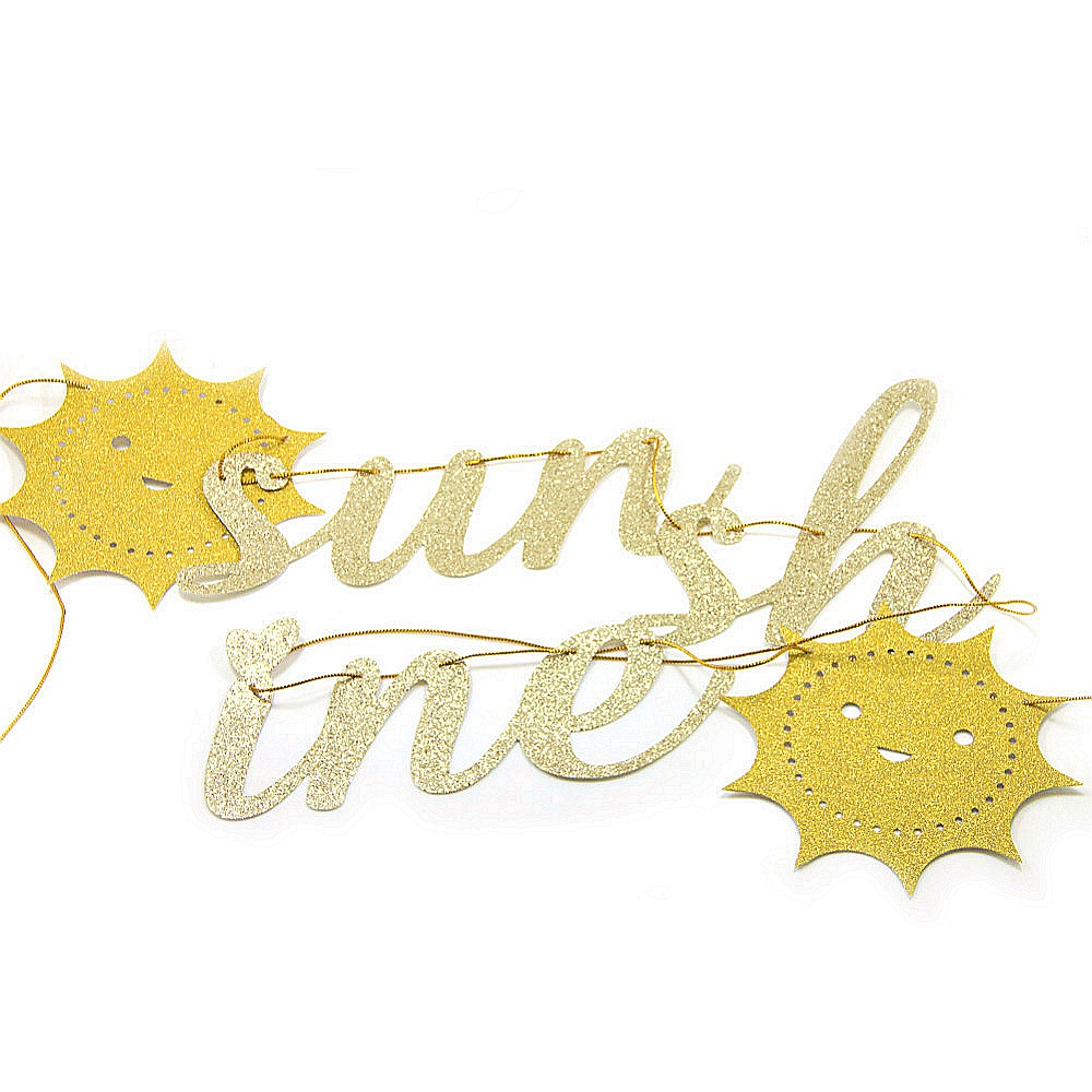 Gold Glitter You Are My Sunshine Banner Decor Sunshine Sign Garland Nursery Child 39 s Room Decor for Baby Shower Birthday in Party DIY Decorations from Home amp Garden