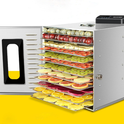 16 Layer  Fruit Food Dryer Stainless Steel Commercial Professional Food Fruit Vegetable Pet Meat Air Dryer Electric Dehydrator