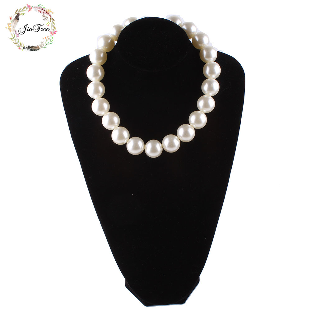 Fashion pearl necklace new women jewelry Big size simulated Pearl Handmade Choker Necklace for Wedding party Women giftFashion pearl necklace new women jewelry Big size simulated Pearl Handmade Choker Necklace for Wedding party Women gift