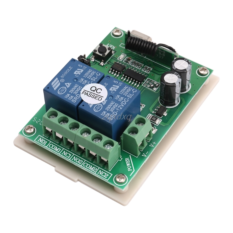 New DC 12V 2 Channel RF 433MHz Wireless Remote Control Switch Relay Receiver Module Drop Ship Electronics Stocks