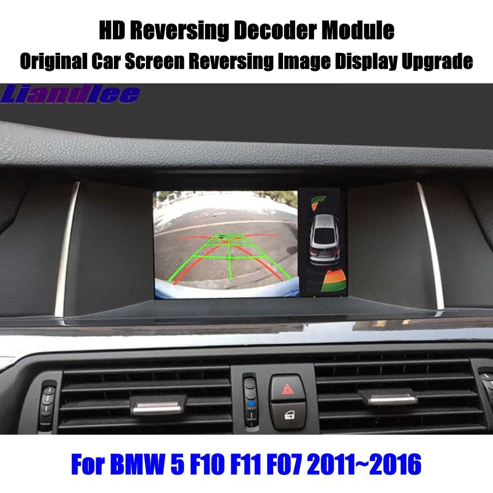 Для BMW 5 F10 F11 F07 2011 2012 2013 2014 2015 2016 декодер формата HD коробка заднего вида парковочная камера изображение автомобильный экран обновленный диспл