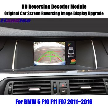 For BMW 5 F10 F11 F07 2011 2012 2013 2014 2015 2016 HD Decoder Box Rear Reverse Parking Camera Image Car Screen Upgrade Display car rear reverse camera for volkswagen vw touareg 2014 2015 2016 original screen upgrade dynamic trajectory image auto cam