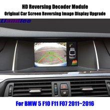 Liandlee Per BMW 5 F10 F11 F07 2011 ~ 2016 HD Decoder Box Posteriore di Parcheggio Retromarcia Della Macchina Fotografica Immagine Dello Schermo Auto aggiornamento Display Update