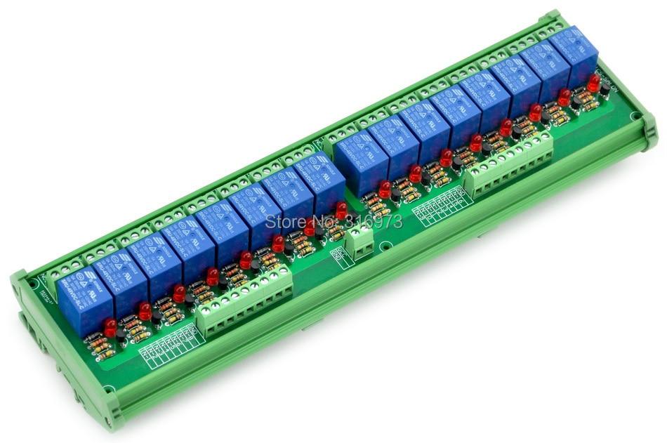 DIN Rail Mount 16 SPDT Power Relay Interface Module,  10A Relay, 48V Coil.DIN Rail Mount 16 SPDT Power Relay Interface Module,  10A Relay, 48V Coil.