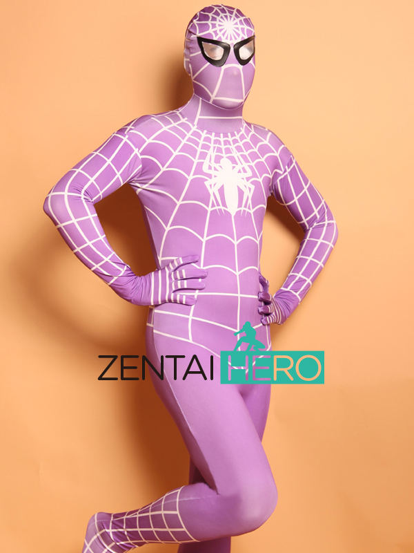 Free Shipping DHL High Quality Mens Halloween Spiderman Cosplay Costumes Lycra Zentai SuperHero Costume Full Body Suit Full Size