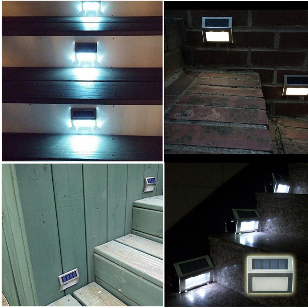 staircase lighting led. 2 Pcs Mini Solar Waterproof Staircase Light LED Corner Lamp Outdoor Courtyard Stainless Steel Shell Wall Hanging Lights-in Lamps From Lights Lighting Led