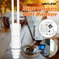 Wavlink AC600 27dBm Wifi Extender di Alta Potenza Esterna Wifi Repeater 2.4G/150Mbps + 5 GHz/433 mbps Wireless Wifi Router con WISP