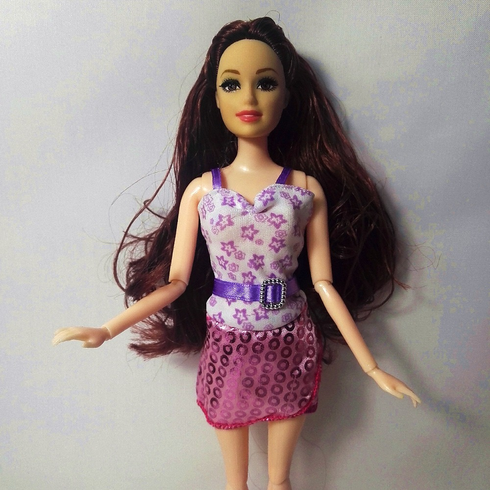 2017 Free Shipping Newest Beautiful Handmade Party Clothes Top Fashion Dress For Barbie Noble Doll Best Child GirlsGift