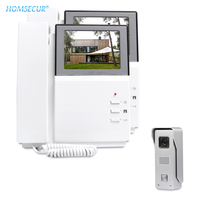 HOMSECUR 4.3 Wired Video Door Entry Call System 700TVLine with IR Night Vision Camera for Home Security XM404 + XC002