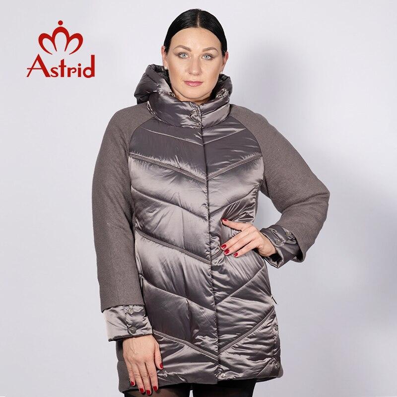 Kadın Giyim'ten Parkalar'de Astrid 2019 kış ceket kadın sonbahar sıcak kapüşonlu yüksek kaliteli kış splice ceket ceket kadınlar yeni koleksiyon AM 2210'da  Grup 1