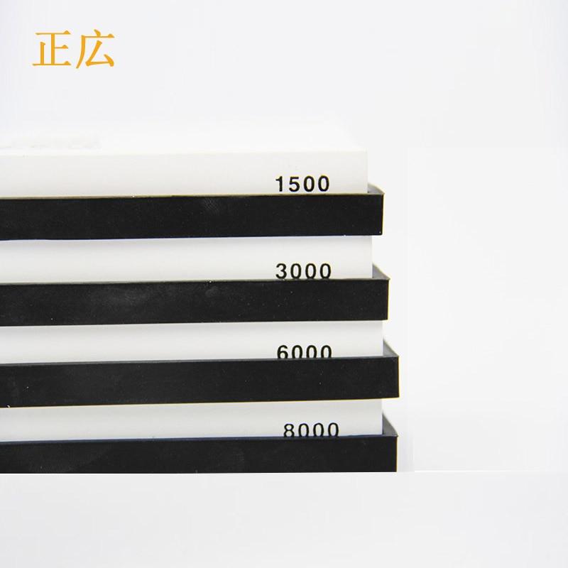 Un Côté Blanc Corindon Whetstone Cuisine Couteau pierre à aiguiser Japonais Couteau Meule Crayons Pour Tous Les Couteaux de Cuisine