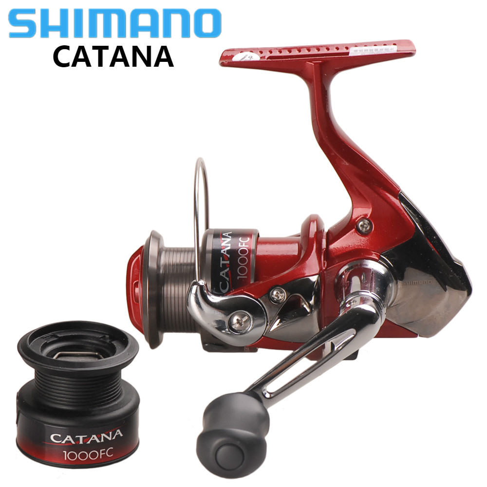 Original SHIMANO CATANA 1000FC Spinning Fishing Reel with Spare Spool 2+1BB 5.2:1 Spinning Reels Saltwater Carretilha De Pesca