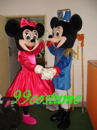Free Shipping Adult Size Wedding Mickey Minnie Mouse Cartoon Cosplay Mascot Costume Cosplay Christmas Hallowmas Party Dress