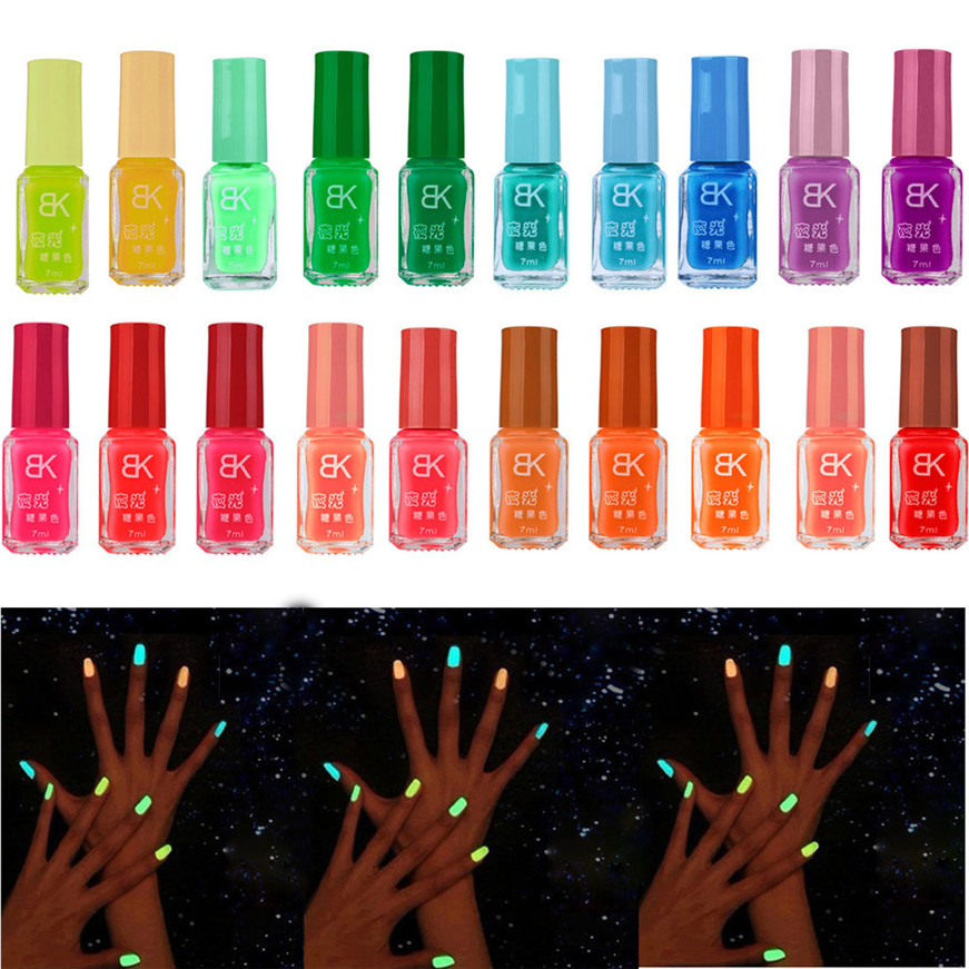 2017 20 colors series of Fluorescent Neon Luminous Gel Nail Polish for Glow in Dark nail polish
