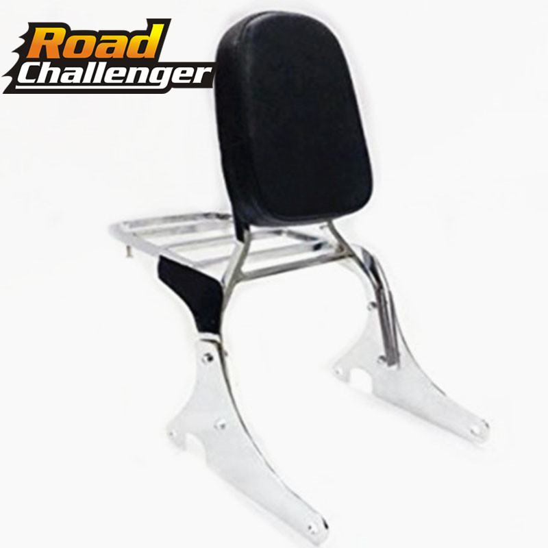 Motorcycle Chrome Backrest Sissy Bar With Luggage Rack For For Kawasaki Vulcan VN400 Vulcan VN800 1995-2012
