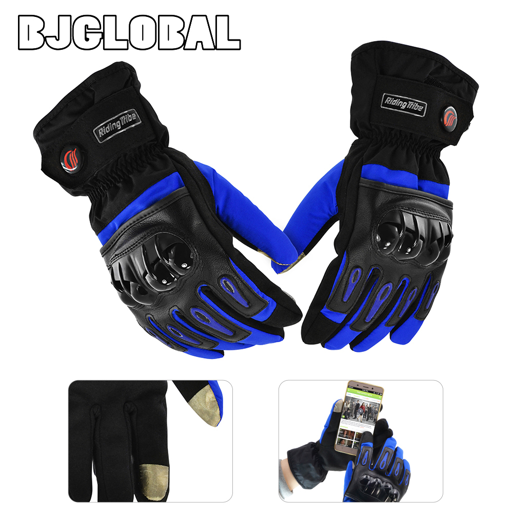 Motorcycle gloves singapore - New Winter Motorcycle Gloves Racing Waterproof Windproof Winter Warm Leather Cycling Bicycle Cold Luvas Ski Racing