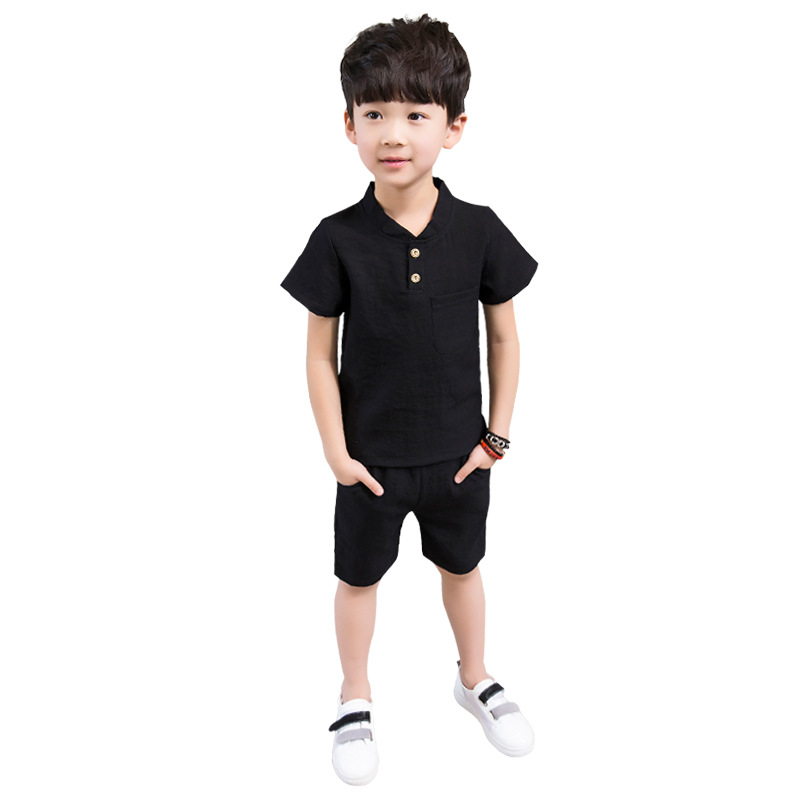 Kids Clothes Set For Baby Boys 3 4 5 6 7 8 9 10 11 12 Years Casual Short Sleeve Shirt + Shorts 2pcs Summer Children Clothing