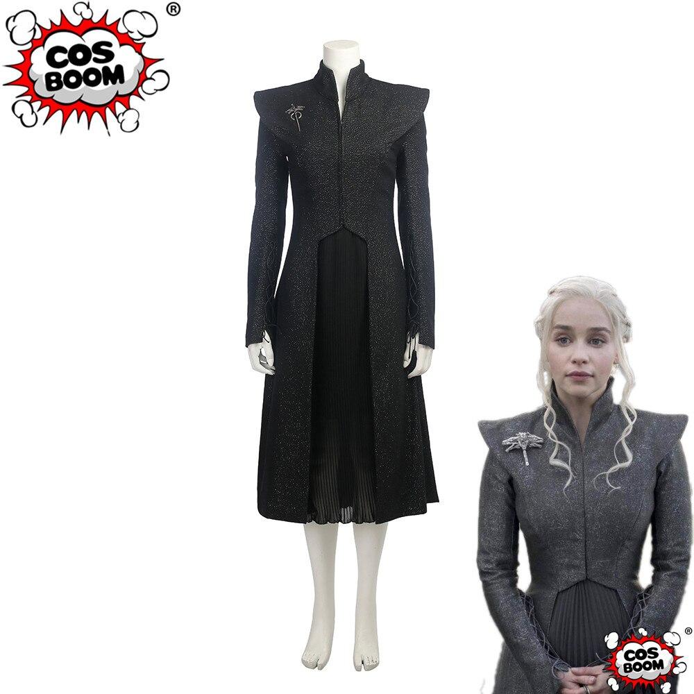 COSBOOM Daenerys Targaryen Costume Game Of Thrones Season 7 Daenerys Targaryen Cosplay Costume Halloween Carnival Costume