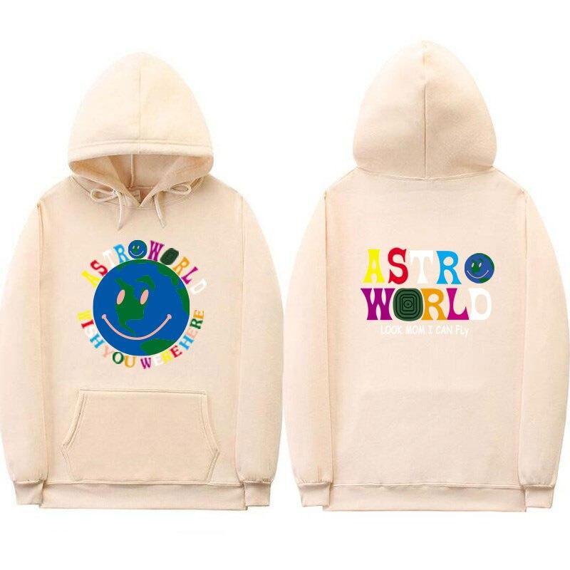 Sweat à capuche multicolore ASTROWORLD homme et femme mode Streetwear sweat lettre Look maman je peux voler pull à capuche