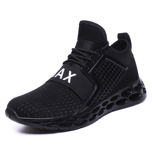 Image 1 - High Quality Casual Shoes Size 10 12 Black Fire Printing Heigh increase Slip on Comfort  Lace up Walking Flat for Men