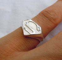 Superman Ring In Solid Sterling Silver Handmade All Sizes