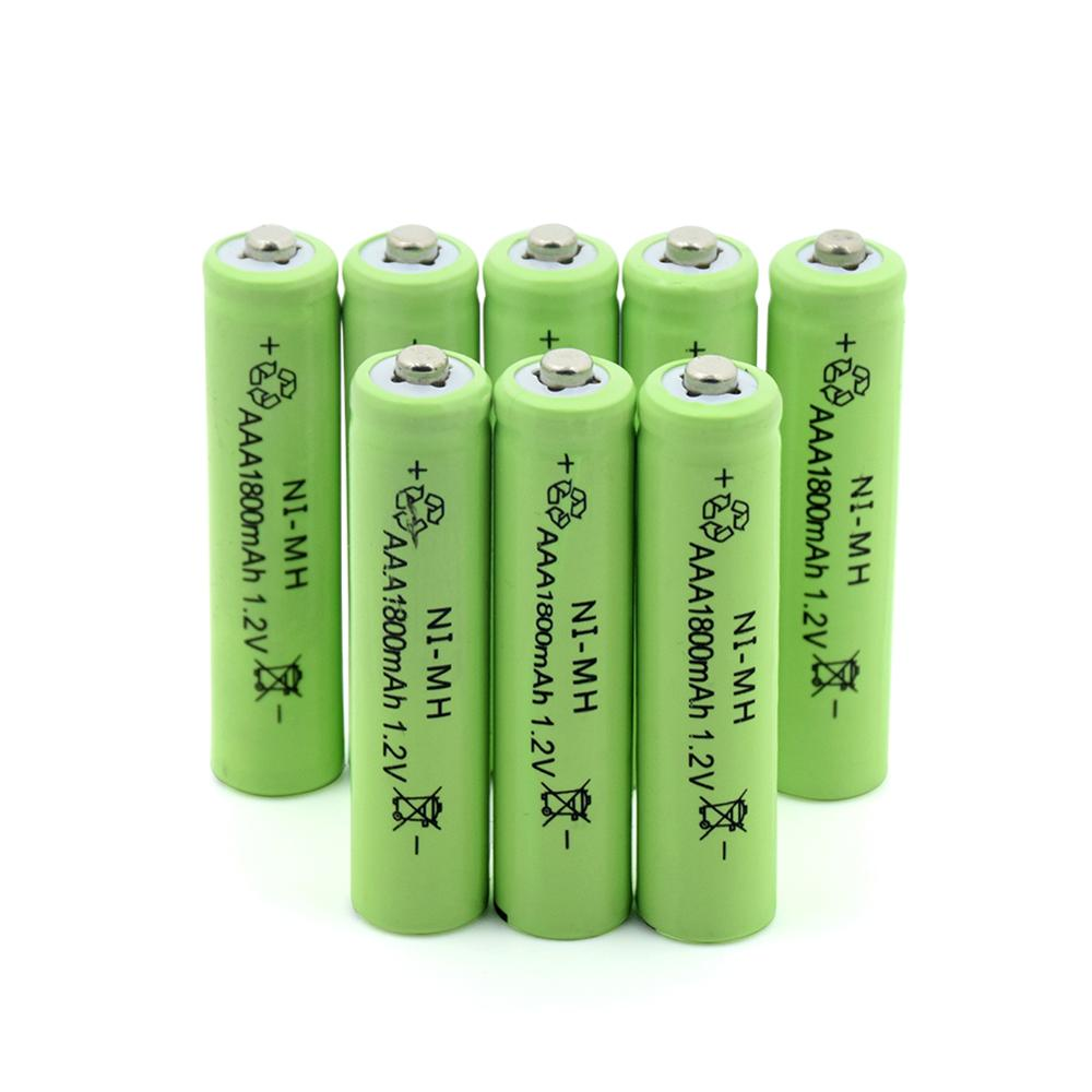 TBUOTZO 3/4/6 Ni-MH 1.2V AAA Rechargeable 1800mAh 3A Neutral Battery Rechargeable Battery ,Free Shipping