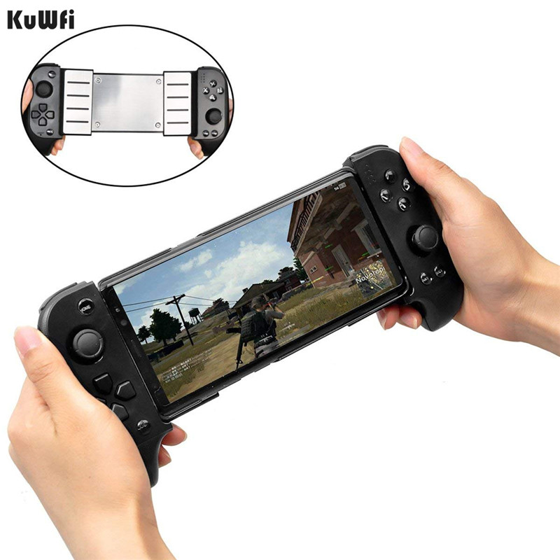 KuWFi Wireless Bluetooth Controller Gamepad,Telescopic Shock Connecting Joystick Gamepad For IOS Android Phone image