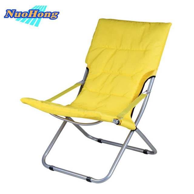 NUOHONG 2017 Folding Sun Loungers Fashion Outdoor Furniture Tourist Camping  Chairs Stainless Steel Metal Part 62